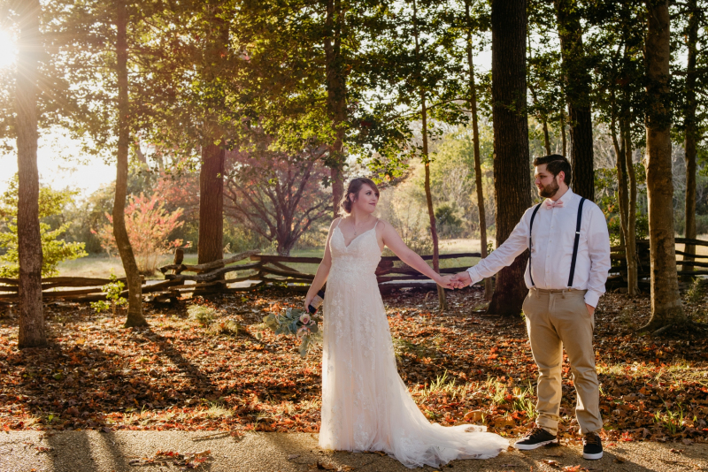 historic polegren church fall wedding