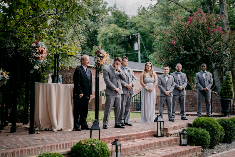 historic Mankin mansion fall wedding