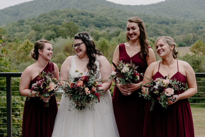 bold rock va fall wedding