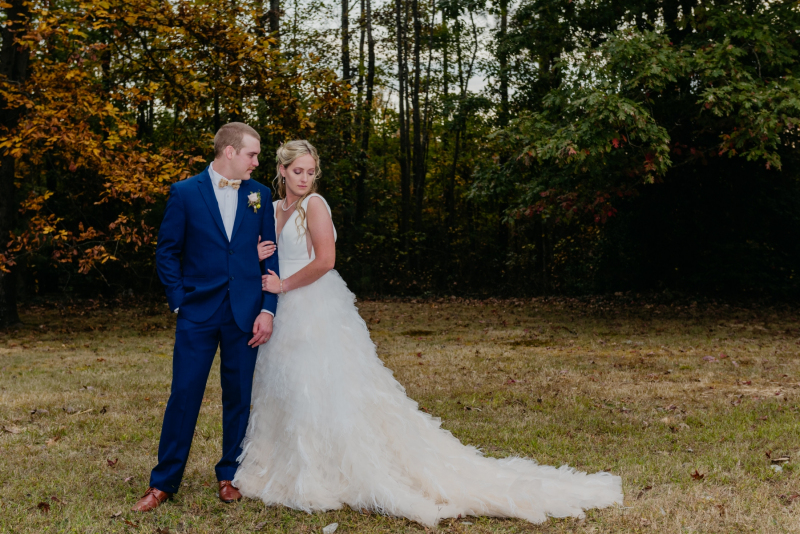 old st johns church fall wedding