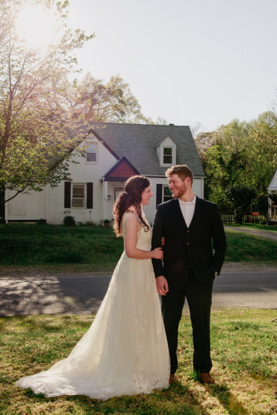 backyard spring elopement